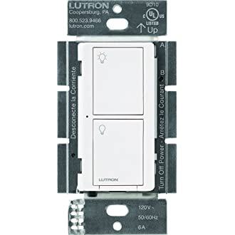#9 Lutron Caseta Wireless Smart Lighting Switch for All Bulb Types and Fans, PD-6ANS