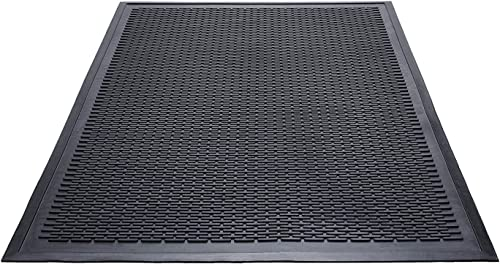 Ottomanson Collection Rubber Doormat, 3 X 5 , Black