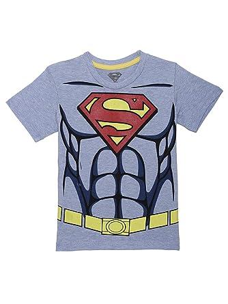 12b24ee5 Kidsville Boys' Plain Regular Fit T-Shirt (SP0GBT1527_Allure Blue Mlng and  Scarlet Red_7