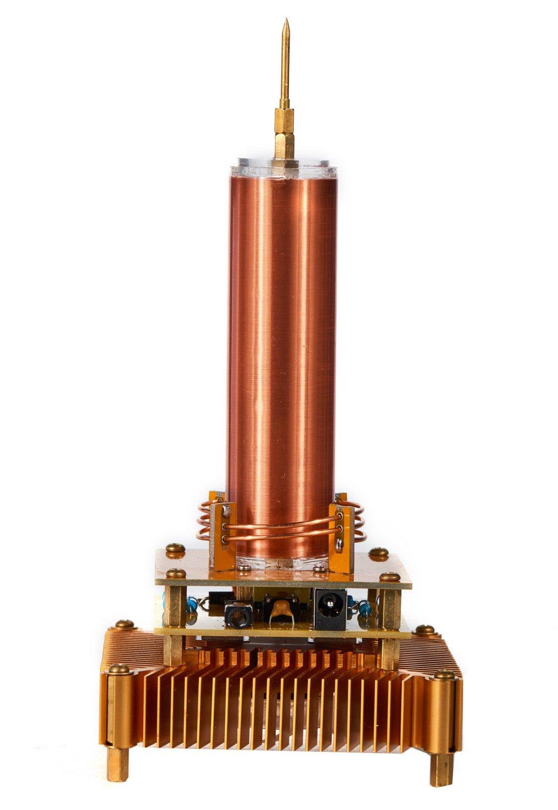 Joytech Music Tesla Coil Acrylic Base Shell Arc Plasma Loudspeaker Wireless Transmission Experiment Desktop Toy Model (YS01) by Joytech (Image #5)