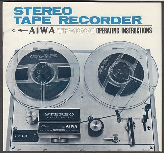 aiwa reel to reel tape recorder tp 1001 operating instructions rh amazon com