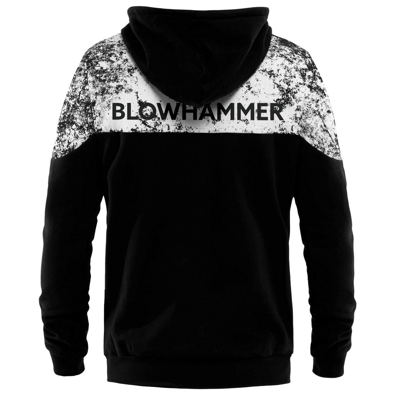 Blowhammer Herren Kapuzenpullover Zip Up Hoodie
