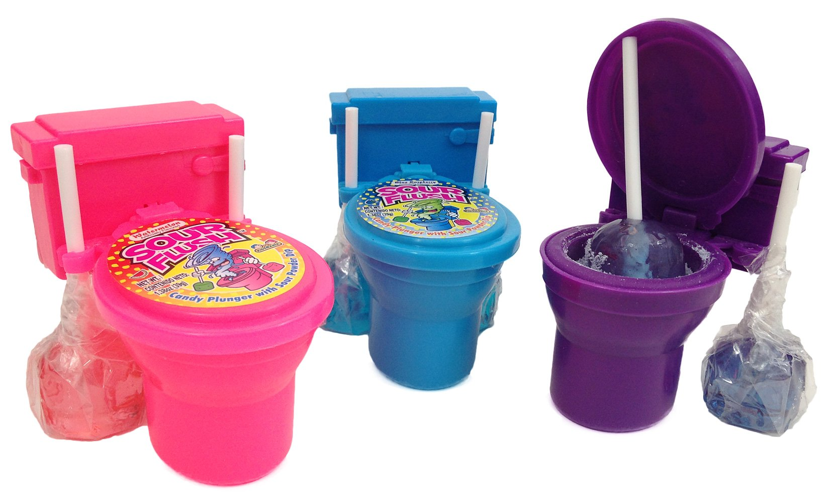 Kidsmania Sour Flush Watermelon, Grape and Blue Raspberry Pack