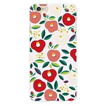 a5ad1081f887 Ruuu iPhone6 iPhone6s ハード スマートフォン スマホ ケース カバー 大正ロマン Type A 和柄 椿 ツバキ