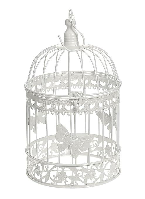 Marfil redondo decorativo mariposa boda jaula decoración de mesa ...