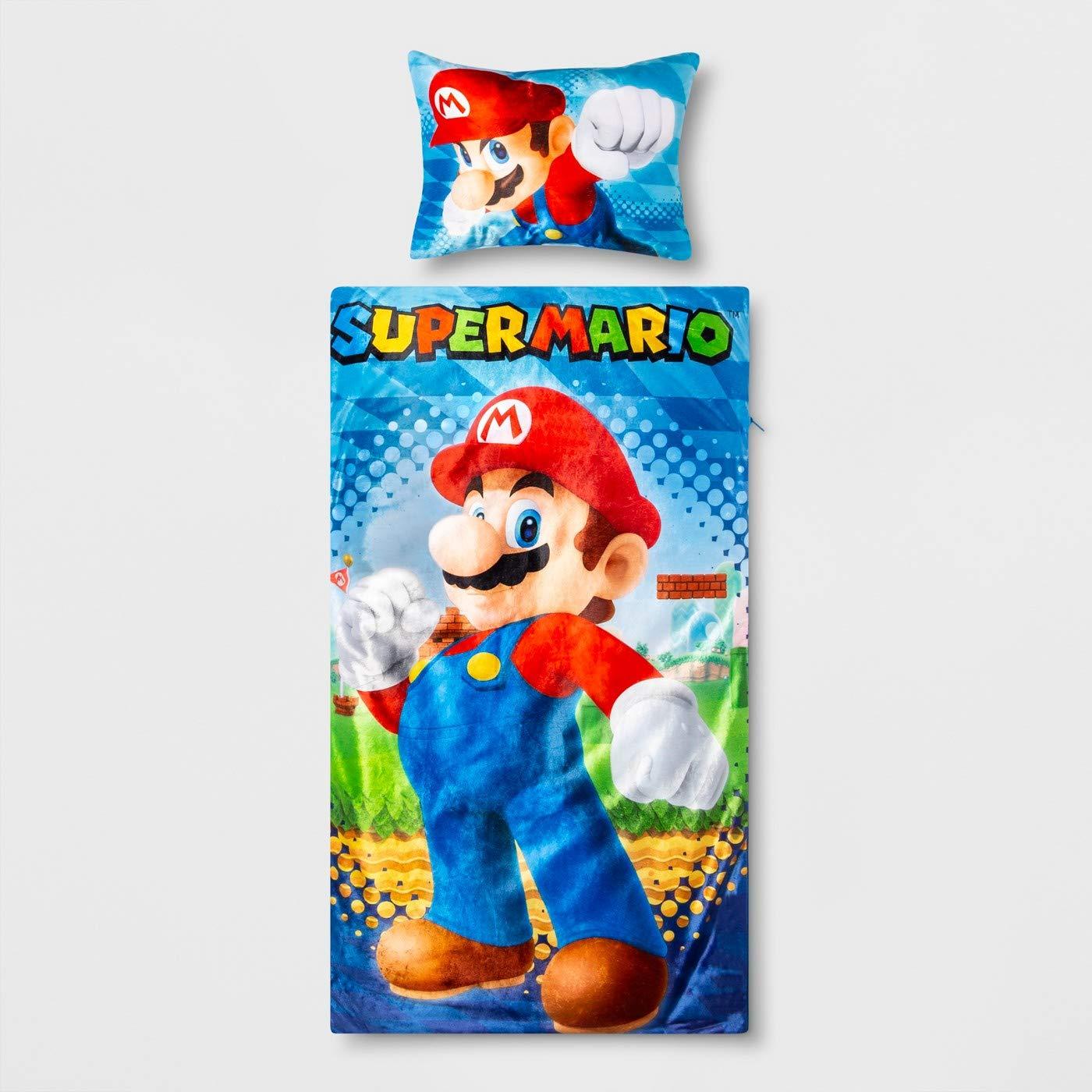 Super Mario Slumber Bag with Pillow by Super Mario