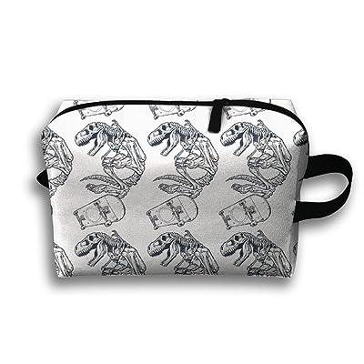 70%OFF Unisex Outwork Sports Bag Toiletry Bag Dinosaur Skeleton Wash Bag Makeup Storage Bag Toiletry Organizer Pencil Case Handbag Coin Purse