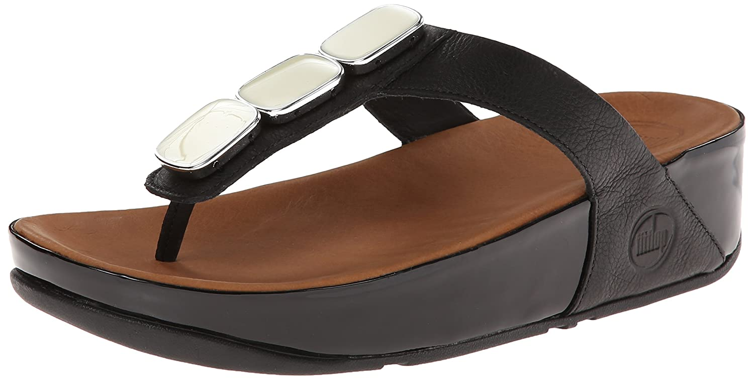 88c5126f5ee3e9 Fitflop Pietra 11 Black (UK 7)  Amazon.co.uk  Shoes   Bags