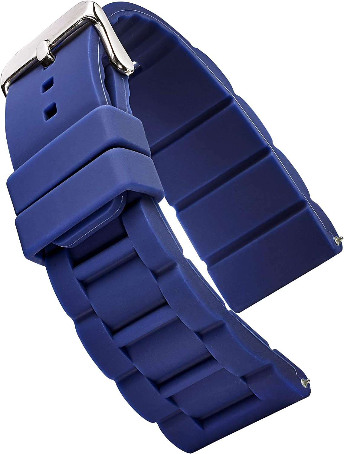 Alpine Sporty Silicone Watch Band 26, 28, 30 mm | Waterproof Silicone Strap & Stainless Steel Buckle