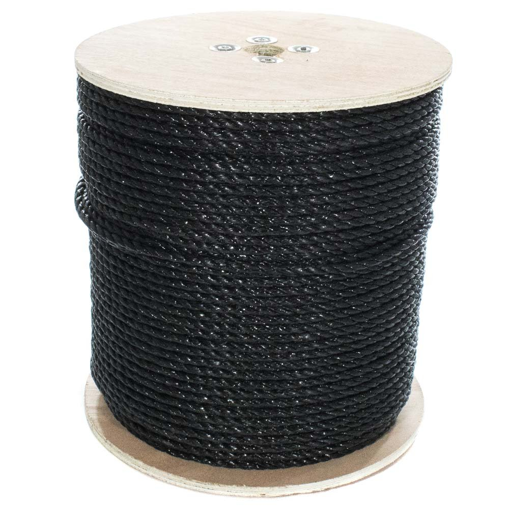 10 ft /– 1200 ft 1//4, 5//16, 3//8, 1//2, 5//8, 3//4 Moisture GOLBERG Twisted Polypropylene Rope Marine Rot Resistant Nautical Chemical Oil