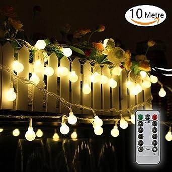Guirlande lumineuse 10M Guirlande Guinguette Raccordable avec 80