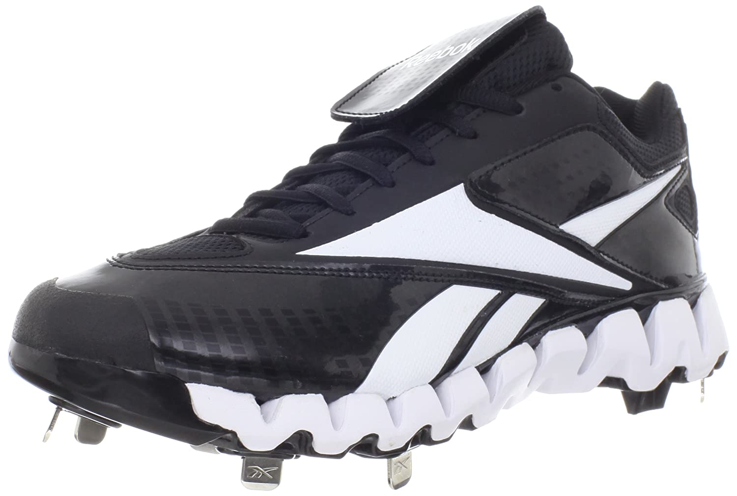 cb5828e036bf90 Reebok Men s Zig Cooperstown Low Baseball Shoe Black White 13.5 D(M) US  Buy  Online at Low Prices in India - Amazon.in