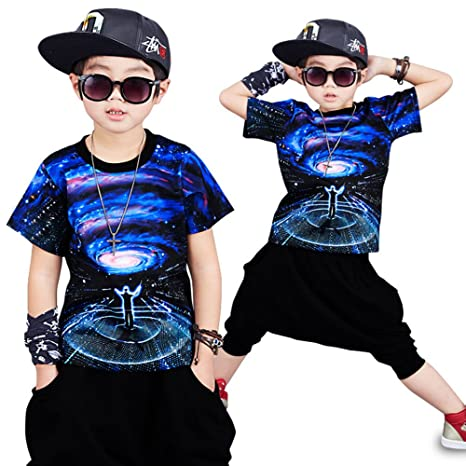 ebb9f68b34f8 MoyuqiTM Estate Hip Hop Abbigliamento per Bambini