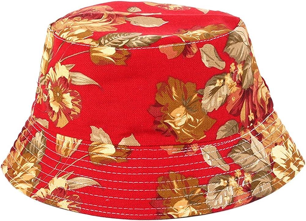 Tonpot Bob Chapeau de P/êcheur Chapeau de Seau Pliable Chapeau de Soleil Imprim/é R/étro pour Voyage P/êche
