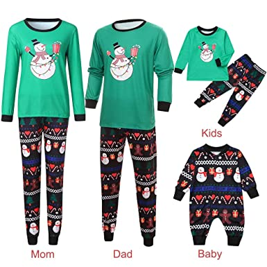 Family Matching Clothes Christmas Pyjama Sets Parent-Child Suit Homewear  Family Clothing Set Women Man 553729105