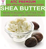 ATC Premium 100% Organic-Unrefined Ivory Shea Butter, 100 Gm (product of Ghana, Africa)