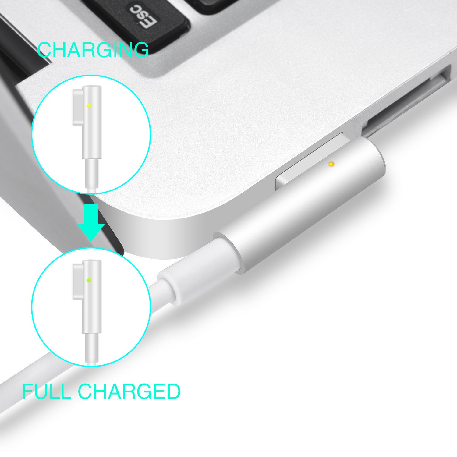 MacBook Pro Charger, Kakivan Mac Charger 85w Magsafe Power Adapter Cord with L-Tip, MacBook Charger 85w Replacement for MacBook Pro 15/17 Inch (Mid2012 Before) by Kakivan (Image #5)