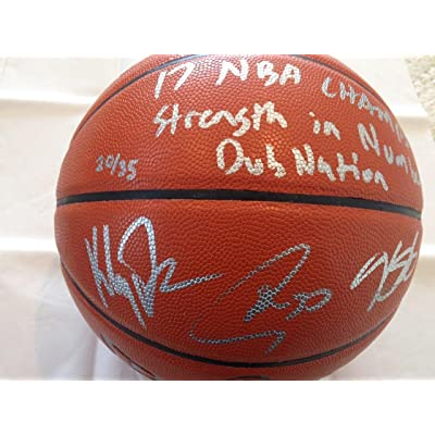 watch 103cf 5e61e Stephen Curry Signed Basketball - Steph Kevin Durant Klay ...
