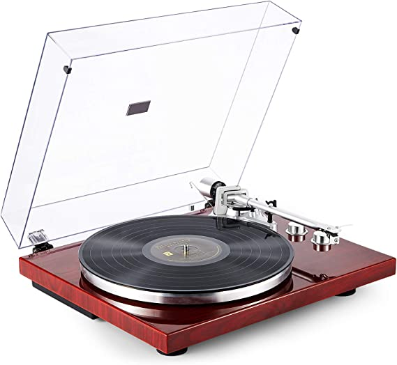 1byone Belt Drive Turntable with Wireless Connectivity
