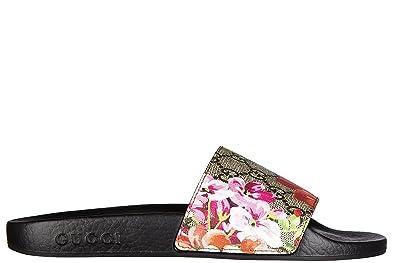 Gucci Mujer Zapatillas Sandalias st. Blooms Place Flowers GG Supreme Beige EU 40 408508 KU200 8919: Amazon.es: Zapatos y complementos