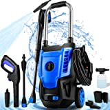 NUSIIRO Pressure Washer, 2300PSI Electric Power Washer, 1.71GPM High Pressure Washer, 1800W Professional Car Washer Cleaner M