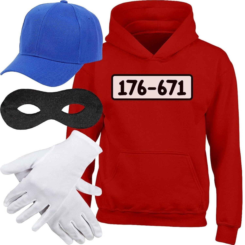 Shirtgeil Kids Panzerknacker Hoodie + MÜTZE + Maske + Handschuhe Kinder  Kapuzenpullover Hoodie ed40669073