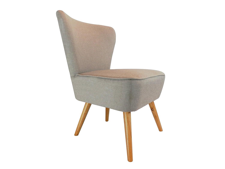 Pro D TTM Designer Accent geschwungene Stoff Leinen Tub Stuhl Sessel für Wohnzimmer Esszimmer Empfang Beige