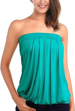 DJT-Mujeres Top Camiseta Hombros Descubiertos: Amazon.es: Ropa y accesorios