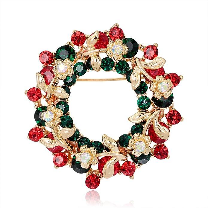 Amazon.com: Christmas Brooch Pin Set Women - Pack of 6pcs Cute ...