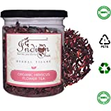 The Indian Chai Organic Hibiscus Herbal Flower Tea 50 Grams