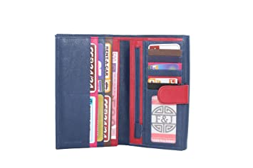 CHARMONI - Compagnon de voyage tout en un porte chéquier Portefeuille 3  volets 13 cartes, porte monnaie très complet en Cuir ... 644ac226629