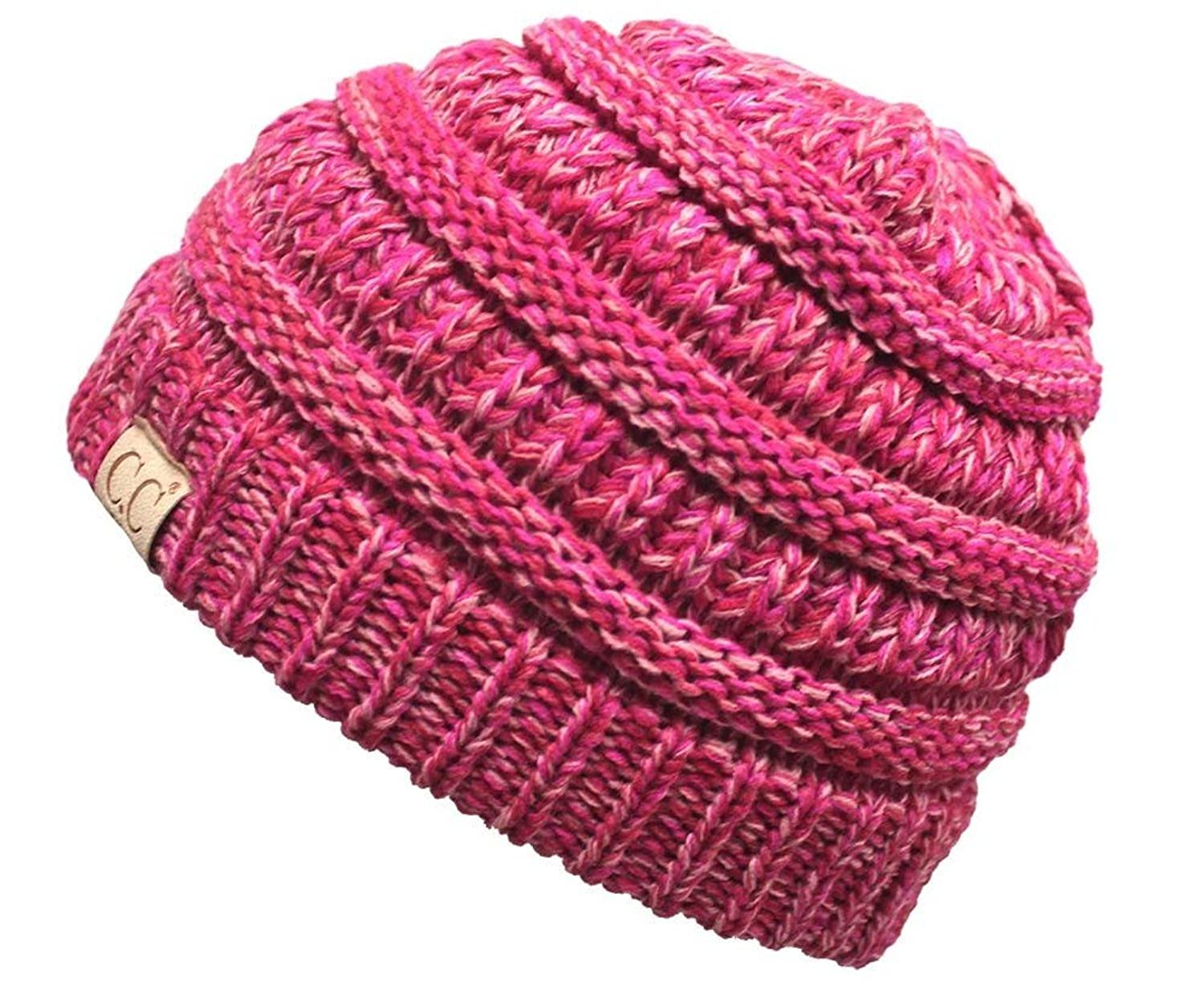 Funky Junque's CC Kids Baby Toddler Ribbed Knit Children's Winter Hat Beanie Cap