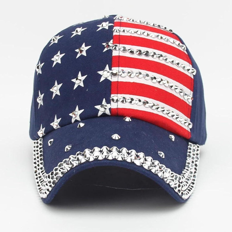 54fd7d74 Amazon.com: Funic Clearance Sale Women Men American Flag Printed Baseball  Caps Snapback Hip Hop Flat Hats (Navy Blue): Clothing