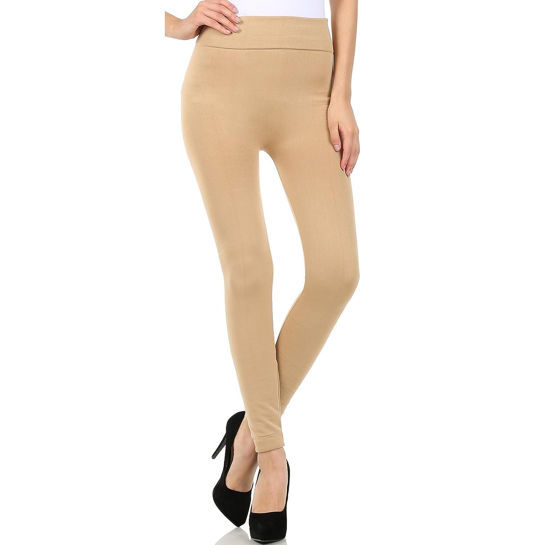 Nice Docele Women Fleece-lined Solid Color Leggings 1301 (Beige) supplier
