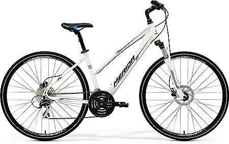 Unbekannt Mujer bicicleta blanco 28 pulgadas Trekking – Merida Crossway de 20 D Lady – 24 marchas Cross Rueda, color weiß-blau-schwarz, tamaño 46 cm: Amazon.es: Deportes y aire libre