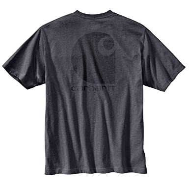 0aa9e40708 Carhartt Men's Workwear C-Logo Graphic Pocket SS T-Shirt, Granite Heather,