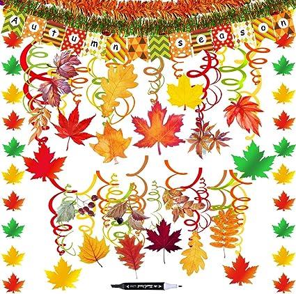 Leaf Banner Fall Wedding Decor Autumn Decorations Fall Party Decor Fall Birthday Fall Banner Autumn Banner Fall Party Decorations