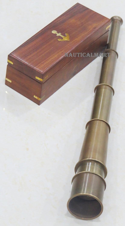 "Nautical Brass Spyglass Telescope 18/"" Handmade Collectibles"
