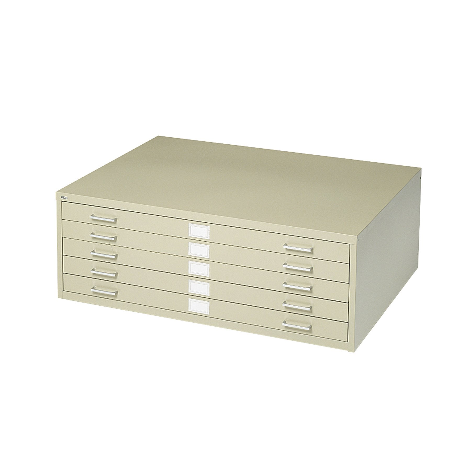 Safco Products Flat File for 36''W x 24''D Documents, 5-Drawer (Additional options sold separately), Tropic Sand by Safco