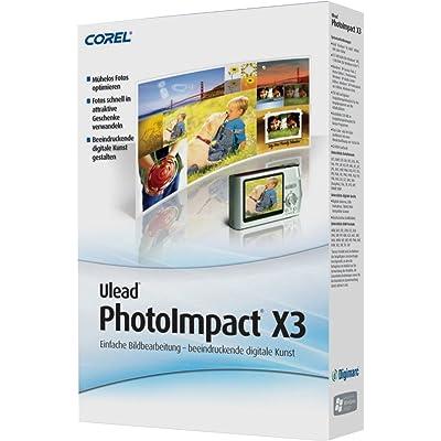 Corel PhotoImpact X3 - Software de gráficos (750 MB, 512 MB, Intel Pentium III/AMD Athlon 800, 1024x768 CD-ROM, Windows XP/Vista, DEU)