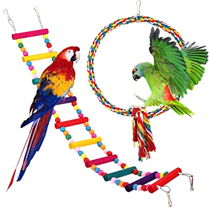 Pawaboo Juguete Columpio para Pájaro, Juguete Oscilación con ...