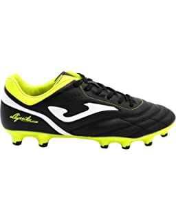 Joma Aguila 711 Black-Yellow Firm Ground Soccer Shoes
