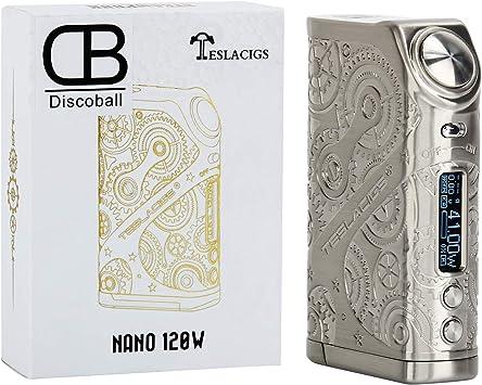 Teslacigs Steam Punk E Caja de cigarrillos Mod Vape Nano 120W Vapor E-Cigarette Silver Sin nicotina, sin líquido, sin nicotina (plata): Amazon.es: Electrónica