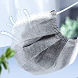 500000 Pack Grey Disposable Protection, 4 Ply Activated Carbon Protection Cover Dust Women Men Breathable Cover for…