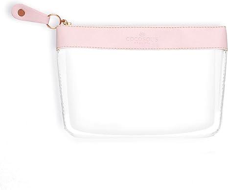 COCOSOLIS Neceser transparente - Bolsa de cosméticos transparente de PVC - Úsela como estuche de maquillaje para productos cosméticos o como neceser para viajes para artículos de tocador: Amazon.es: Equipaje