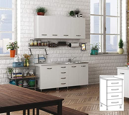Salón Tienda en línea Kit Mueble Cocina Base 4 cajones CM.40 ...