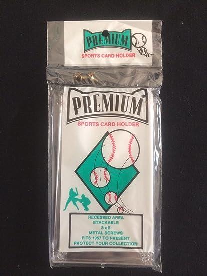 Amazoncom Premium Hard Plastic Sports Card Holder