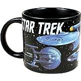 The Unemployed Philosophers Guild Starships Of Star Trek Mug, Black