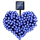 Isightguard Wasserdicht solar Lichterkette 20m 200 led Solarlichterkette Beleuchtung für Hochzeit Party Weihnachten (blau)