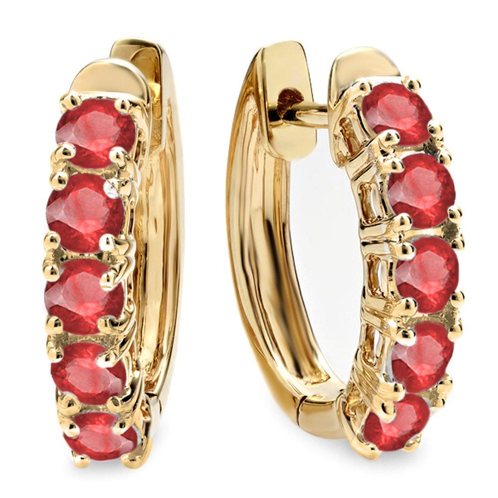 Amazon: 100 Carat (ctw) 14k Yellow Gold Round Black Diamond Ladies Huggies  Hoop Earrings 1 Ct: Jewelry